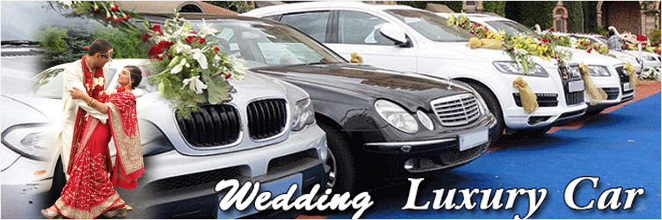 Decorated Car For Wedding